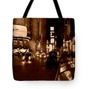 Times Square At Night - In Copper Tote Bag