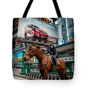 Times Square Horse Power Tote Bag