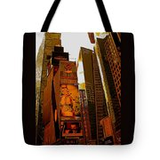 Times Square In Manhattan Tote Bag
