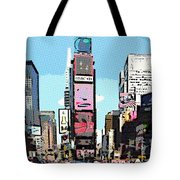 Times Square Nyc Cartoon-style Tote Bag