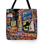 Times Square Tote Bag by Randy Aveille