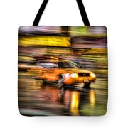 Times Square Taxi I Tote Bag