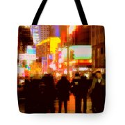 Times Square - The Lights Of New York Tote Bag
