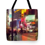 Times Square With Runaway Horse Tote Bag
