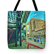 Times Union Stairwell Tote Bag