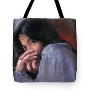 Timid Girl Tote Bag