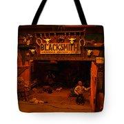 Tinkertown Blacksmith Shop Tote Bag by Jeff Swan