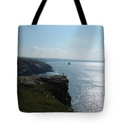 Man On The Edge Tintagel Tote Bag
