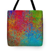 Tiny Blocks Digital Abstract - Bold Colors Tote Bag