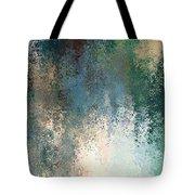 Tiny Blocks Digital Abstract - Cool Blues Tote Bag