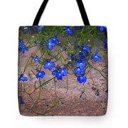 Tiny Blue Flowers Tote Bag