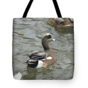 Adorable Tiny Duck Swimming Tote Bag