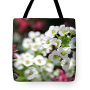 Tiny Pink And Tiny White Flowers 2 Tote Bag