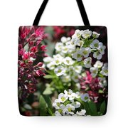 Tiny Pink And Tiny White Flowers Tote Bag
