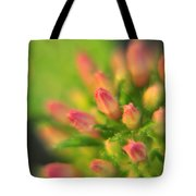 Tiny Pink Buds Tote Bag