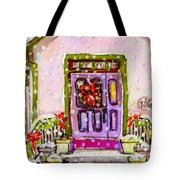 Tiny Purple Church In The Woods Tote Bag