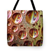 Tiny Water Beads And Spectrum Colors Tote Bag