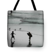 Tip Toe Through The Surf Tote Bag