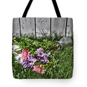 Tipsy Flowers Tote Bag
