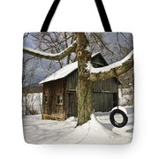 Tire Swing Shed Tote Bag by Timothy Flanigan