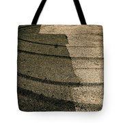 Tire Traces Beige Tote Bag