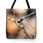 Tired Dragonfly Square Tote Bag