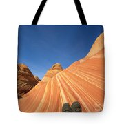 Tired Hiker Paria Wilderness Arizona Tote Bag