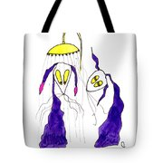 Tis Long Cold Shower Tote Bag by Tis Art