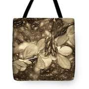 Tis The Season - Antique Sepia Tote Bag