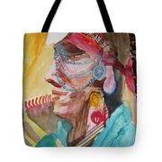 Water Healing Ceremonial Chief Yaz  Tote Bag