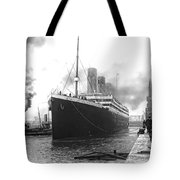 Titanic In Southampton Harbor Tote Bag