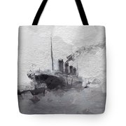 Titanic Leaving Southhampton Tote Bag
