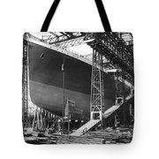 Titanic Under Construction Tote Bag