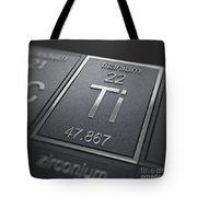 Titanium Chemical Element Tote Bag