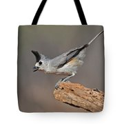 Titmouse Preparing For Takeoff Tote Bag