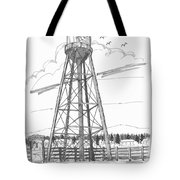 Tivoli Water Tower Tote Bag