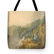 Tivoli With The Temple Of The Sybil And The Cascades Tote Bag
