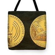 Tlingit Tribe Code Talkers Bronze Medal Art Tote Bag