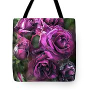 To Be Loved - Purple Rose Tote Bag