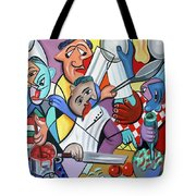To Many Cooks In The Kitchen Tote Bag
