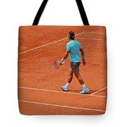 Rafael Nadal To The Baseline Tote Bag