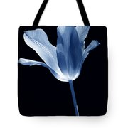To The Light Tulip Flower In Blue Tote Bag