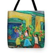 To The Morning Market Tote Bag