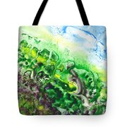 To The Unknown Abstract Path Number Five Tote Bag