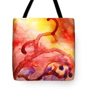 To The Unknown Abstract Path Number Two Tote Bag