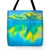 To West  Horses With Reflection Tote Bag