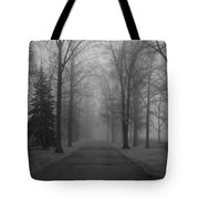 To Where It Leads  Bw Tote Bag