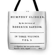 Tobias Smollett Title Page Tote Bag