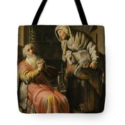 Tobit And Anna With The Kid Tote Bag