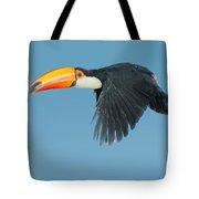 Toco Toucan In Flight Tote Bag